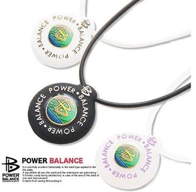【最終処分】国内正規品300個 !  POWER BALANCE/パワーバランス ネックレス 定価 5040円(税込) カラー3色:・ホワイト ・ブラック ・クリアピンクの画像