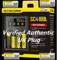 New Version Nitecore SC4 D4 Digicharger LCD Display Battery Charger 100% Original Nitecore I2 I4