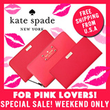 [Kate Spade] HOT WEEKEND CLEARANCE!!!! Womens Wallet - Wellesley Neda Newbury Lane Neda/Stacy. Hot Rose/Desert Rose ONLY. 100% Authentic from USA!!!