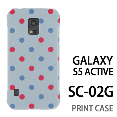 GALAXY S5 Active SC-02G 用『0823 斜めドット 水』特殊印刷ケース【 galaxy s5 active SC-02G sc02g SC02G galaxys5 ギャラクシー ギャラクシーs5 アクティブ docomo ケース プリント カバー スマホケース スマホカバー】の画像