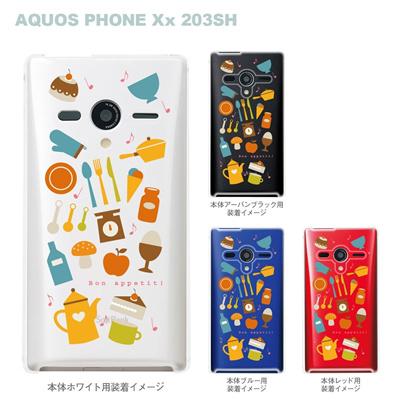 【AQUOS PHONEケース】【203SH】【Soft Bank】【カバー】【スマホケース】【クリアケース】【スイーツ】 09-203sh-sw0003の画像
