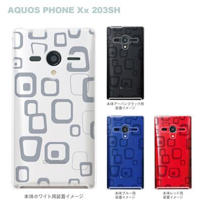 【AQUOS PHONEケース】【203SH】【Soft Bank】【カバー】【スマホケース】【クリアケース】【ラフボックス】 06-203sh-ca0021hの画像