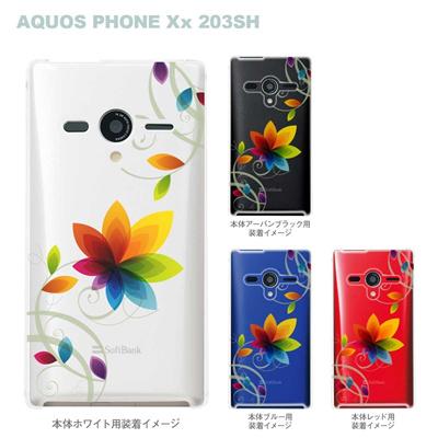 【AQUOS PHONEケース】【203SH】【Soft Bank】【カバー】【スマホケース】【クリアケース】【フラワー】 22-203sh-ca0032の画像