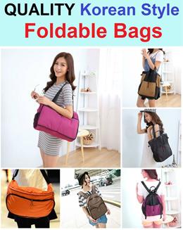 Quality Foldable Bags / Christmas Gift / Korean Style / Sling Bag / Shoulder Bag / Backpack / Travel Bag / 3 Way Bag / Light Weight / Soft Texture / Durable / Portable / Travel / Multi Purpose