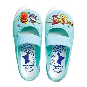 (A倉庫)ムーンスター アンパンマンバレー 02 スクールシューズ 上履き キャラクター キッズ 上靴 バレーシューズの画像