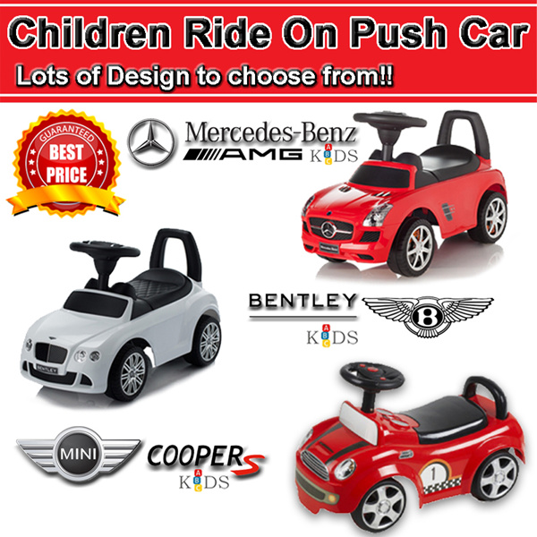 Buy infantods children ride on push car toy cars kids for Mercedes benz ride on toy car