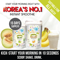15 DAYS PACK! ✦Korea No.1 Instant Smoothie✦2 Types: Melon✓ Banana✓ ♥Delicious Nutritious♥Real Fruits