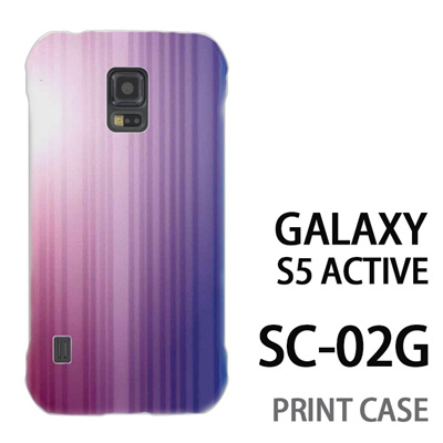 GALAXY S5 Active SC-02G 用『0824 グラデーション 紫青』特殊印刷ケース【 galaxy s5 active SC-02G sc02g SC02G galaxys5 ギャラクシー ギャラクシーs5 アクティブ docomo ケース プリント カバー スマホケース スマホカバー】の画像