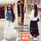 XM111レディーススカート 韓国ファッション お洒落なシフォンスカート/半身スカート/マキシ/プリーツスカート/シフォンスカート/ロングスカート/2color