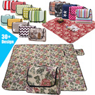 TaroHome Multi-Functional High Quality Family Size Lightweight Canvas  Picnic Blanket Outdoor Camping Rug Beach Mat Travel Play Mat