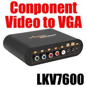 ★【送料無料】コンポーネントビデオをVGAに変換するアップスキャンコンバーター LKV7600 VGA入力で1台のモニターで切り替え可能 XBOX360 appleTV(アップルTV) Nintendo Wii PSP2000/3000 接続可能 Windows/Mac対応の画像