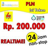 [mobilepulsa] Token Pulsa PLN Rp. 200.000- REALTIME 24 JAM non-stop! (Mohon baca cara pengisian di bawah)