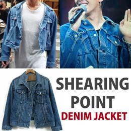 【送料無料】BIGBANG GDスタイル!シャーリングポイントデニムジャケット
