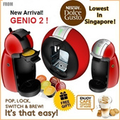 Nescafe DOLCE GUSTO with FREE Capsules. Espresso Coffee Machine Krups Genio Melody Circolo Mini Me