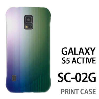 GALAXY S5 Active SC-02G 用『0824 グラデーション 青緑』特殊印刷ケース【 galaxy s5 active SC-02G sc02g SC02G galaxys5 ギャラクシー ギャラクシーs5 アクティブ docomo ケース プリント カバー スマホケース スマホカバー】の画像