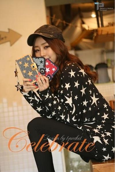 iPhone 6/ アイフォン6用 ケース 個性的な iPhone6ケース Hard case for iPhone 6/アイフォンDiary /【iPhone6 4.7インチ】Tongkeun PocketThe Celebrate Diary( ダイアリータイプ レザーケース)【レビューを書いてメール便送料無料】の画像