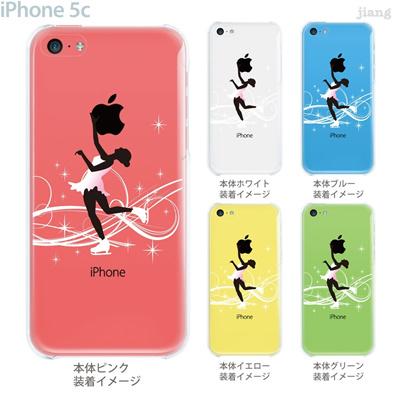 【iPhone5c】【iPhone5c ケース】【iPhone5c カバー】【ケース】【カバー】【スマホケース】【クリアケース】【クリアーアーツ】【アイススケート】 10-ip5c-ca0077の画像
