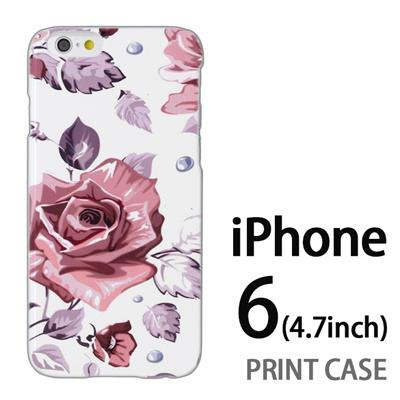 iPhone6 (4.7インチ) 用『0618 昼のピンクバラ』特殊印刷ケース【 iphone6 iphone アイフォン アイフォン6 au docomo softbank Apple ケース プリント カバー スマホケース スマホカバー 】の画像