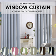 ★99% Sunlight Blockout Curtains / Blackout Curtains ★ 2 Pcs Set.