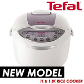 Tefal Fuzzy Logic Rice Cooker -NEW MODEL- 1L/1.8L - Get your new rice cooker NOW!