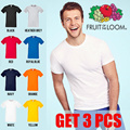 GET 3 PCS! Fruit of the Loom Soft Premium | 8 Pilihan Warna Size S - XL | Bahan Lembut Kualitas Import