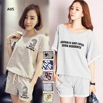 2017新作 韓国ファッション 半袖 Tシャツ +短パンツ カジュアル レディース 2点セット 上質 人気高い ATZ