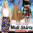 Midi Skirts~ S - XXL~ Quality material~