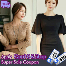 [Chicline] S~XL size LUXURY OFFICE DRESS From Korea /High quality/ Free Shipping