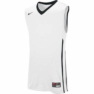 ナイキ(NIKE) ストック ハイパー エリート ジャージ 626671 106 チームホワイト/チームブラック 【バスケットボール ウェア 練習着 ノースリーブ ゲームシャツ】の画像