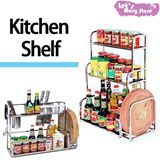 [Local Fast shipping] [Mega Sale]★STANDING KITCHEN SHELF★seasoning storage/kitchenware organizer/ kitchen rack/cookware stand/ multipurpose rack/