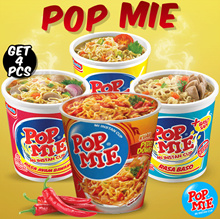 4 PCS BULK SALE Pop Noodles / instant MiE cup