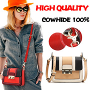 Quality guarantee one hundred percent real cowhide leather bags multi-layer receive bag hang on supe