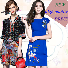 【25/3】new Promotions  High quality dress elegant dress/European British style/Office dresses