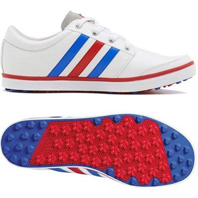 アディダス(adidas) アディクロス グリップモア/adicross gripmore SYN スパイクレス シューズ Q47039 WH/LS 【メンズ ゴルフ 靴 15】の画像