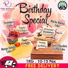 1KG Mango Delight/Chocolate Truffle/Strawberry/Mocha Walnut Cake (Birthday Special) Usual $58.00