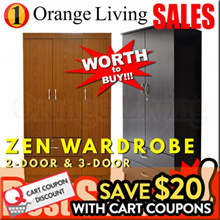 [FURNITURE SALES] 2 DOOR 3 DOOR WARDROBE AT LOW PRICE WITH FREE DELIVERY AND INSTALLATION !!!