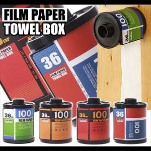 【クリックで詳細表示】★【送料無料】カメラ好きにいかが?レトロでおしゃれなフィルムケース型 トイレットペーパー ホルダー お部屋のインテリアとしてもインパクト大! FILM PAPER TOWEL BOX [ISO100 35mm ネガフィルム ティッシュ箱 トイレ デジカメ 一眼レフ トイカメラ フィルムネガ]全ての商品が【送料無料】の素敵なお店!秋のタイムセール開催中!
