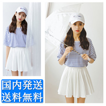 半袖トップス★レディーストップス レディースブラウス 春夏 シンプルライン Tシャツ 2タイプ
