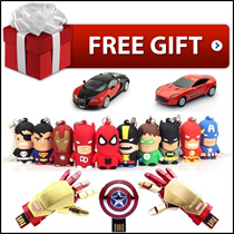 [FREE] THUMB DRIVE ☆ USB 16GB / 32GB / 64GB / Flash Drive / Avengers / Minions / Marvel / DC  / Star War / Captain America / Batman / Iron Man / LINE