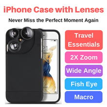 iPhone 6/7 Case with 4 Lenses. Fisheye|Zoom|Wide Angle|Macro All in One