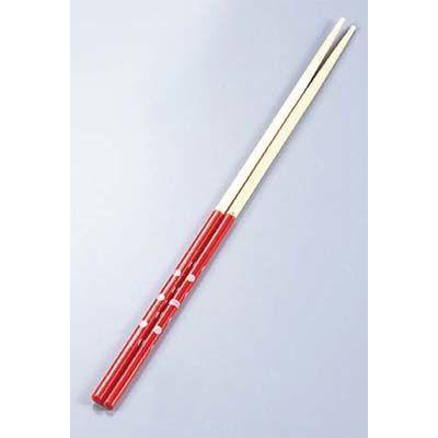 モノトーン竹菜箸すべり止め付赤26-046AEBM-2940300