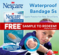 [Official E-Store] Nexcare™ Waterproof Bandage 5s Sample Pack / Plaster Trial Pack / SG50 Jubilee Promo / Free / Shipping Applies