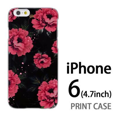 iPhone6 (4.7インチ) 用『0618 夜の赤い花』特殊印刷ケース【 iphone6 iphone アイフォン アイフォン6 au docomo softbank Apple ケース プリント カバー スマホケース スマホカバー 】の画像