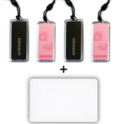 4pcs Genuine SAMSUNG EZON Digital Door Lock key Tag + 1pcs RFID Card 13.56MHz...