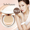 [Sulwhasoo] Even fair perfecting cushion(SPF50+/PA+++)15g*2/Donginbi Red Ginseng Radiance Cushion BB SPF50+PA+++18g*2/Korea Cosmetic/Ginseng/Red/Sum37/Ohui/Hera/The Whoo/Iope