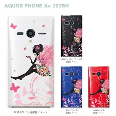 【AQUOS PHONEケース】【203SH】【Soft Bank】【カバー】【スマホケース】【クリアケース】【クリアーアーツ】【フェアリー】 22-203sh-ca0094の画像