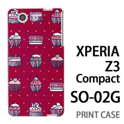 XPERIA Z3 Compact SO-02G 用『0315 スイーツドットハート 赤』特殊印刷ケース【 xperia z3 compact so-02g so02g SO02G xperiaz3 エクスペリア エクスペリアz3 コンパクト docomo ケース プリント カバー スマホケース スマホカバー】の画像