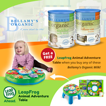 Bellamys Organic Follow-On Formula Step 2 / Toddler Milk Drink Step 3  (900gms - 3tins X 2cartons) FREE LEAPFROG TABLE