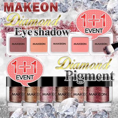 [TOSOWOONG][MAKEON]1+1イベント/ダイヤモンド・アイシャドウ5種ピグメント6種/アイメークアップ!/ムレNO/イギリス産ダイヤモンド・パウダー/最新トレンド/カラーメークアップ/韓国コスメの画像
