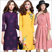 【3/12promotion】High quality dress/Spring and summer elegant dress/European British style/Office dress/Cocktail dress/Party/dress/Lace/Slim/atmosphere/High-end